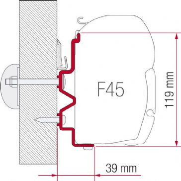 Fiamma Awning Adaptor Kit Rapido Serie  90dF- 9M- 10 After 2011